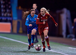 WIDNES, ENGLAND - Wednesday, February 7, 2018: Liverpool's Alex Greenwood during the FA Women's Super League 1 match between Liverpool Ladies FC and Arsenal Ladies FC at the Halton Stadium. (Pic by David Rawcliffe/Propaganda)