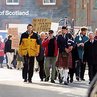 Aberfeldy depot protest...16.3.2001.<br />