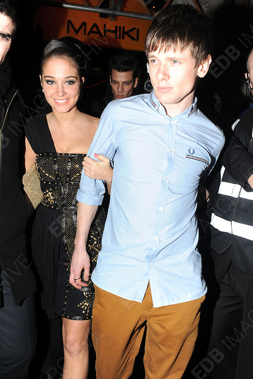 01.MAY.2012. LONDON<br /> <br /> TULISA CONTOSTAVLOS AND BOYFRIEND JACK O'CONNELL LEAVING THE MAHIKI NIGHTCLUB AT 3AM IN LONDON<br /> <br /> BYLINE: EDBIMAGEARCHIVE.COM<br /> <br /> *THIS IMAGE IS STRICTLY FOR UK NEWSPAPERS AND MAGAZINES ONLY*<br /> *FOR WORLD WIDE SALES AND WEB USE PLEASE CONTACT EDBIMAGEARCHIVE - 0208 954 5968*