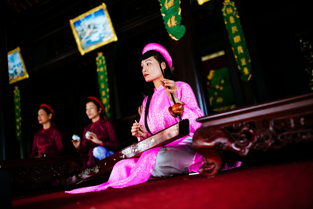 Traditional music at Tu Duc's tomb, also known as the Summer Palace, in Hue, Vietnam.