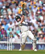 Steve Smith of Australia hits the ball to the boundary for four runs during the 5th International Test Match 2019 match between England and Australia at the Oval, London, United Kingdom on 13 September 2019.