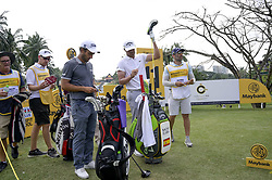 March 22, 2019 - Kuala Lumpur, Malaysia - Edoardo Molinari (C) of Italy , Nacho Elvira (R) of Spain in action on Day Two of the Maybank Championship at Saujana Golf and Country Club on March 22, 2019 in Kuala Lumpur, Malaysia  (Credit Image: © Chris Jung/NurPhoto via ZUMA Press)