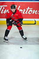 KELOWNA, BC - DECEMBER 30: Nikita Krivokrasov #8 of the Prince George Cougars warms up on the ice against the Kelowna Rockets at Prospera Place on December 30, 2019 in Kelowna, Canada. (Photo by Marissa Baecker/Shoot the Breeze)