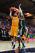 November 27, 2011; Moraga, CA, USA; San Francisco State Gators forward Max Fodor (50) shoots the ball during the first half of the Shamrock Office Solutions Classic against the Saint Mary's Gaels at McKeon Pavilion. The Gaels defeated the Gators 86-52.