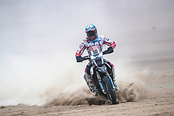 Santosh Chunchunguppe Shivashankar (IND) of Hero Motorsport Team Rally races during stage 4 of Rally Dakar 2019 from Arequipa to Tacna, Peru on January 10, 2019. // Flavien Duhamel/Red Bull Content Pool // AP-1Y3A6945W2111 // Usage for editorial use only // Please go to www.redbullcontentpool.com for further information. //