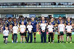 Mascots - Mandatory by-line: Dougie Allward/JMP - 15/04/2017 - RUGBY - Sixways Stadium - Worcester, England - Worcester Warriors v Bath Rugby - Aviva Premiership