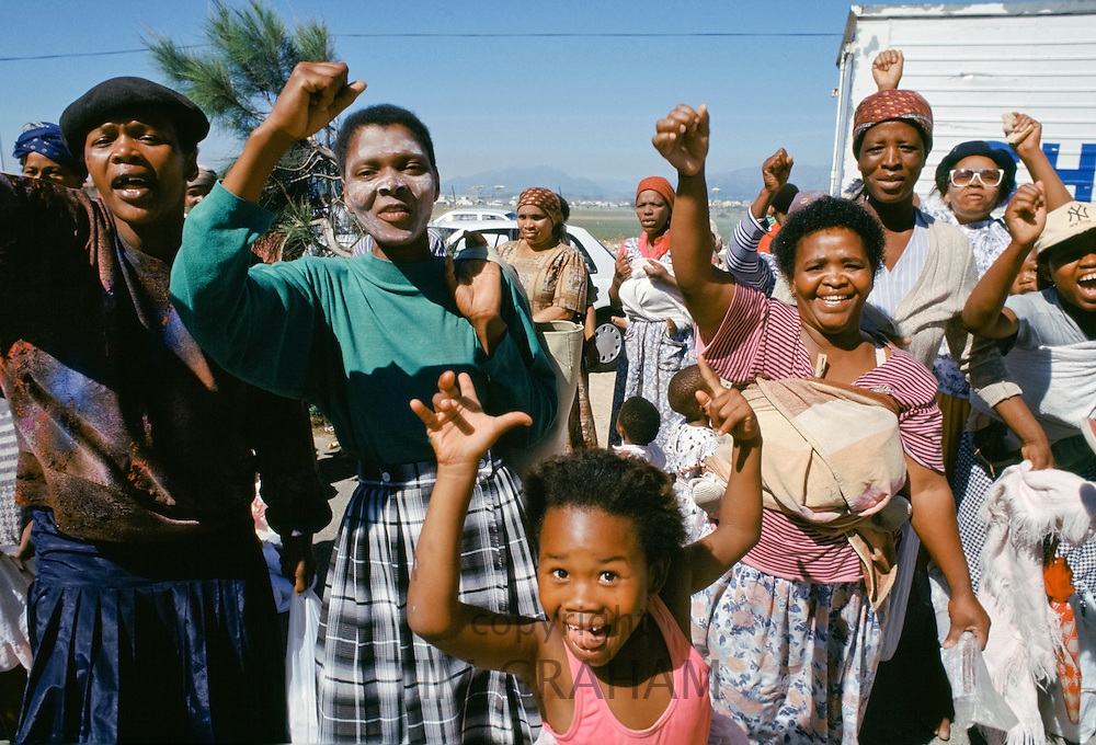Women and children at the Alexandra Township, Johannesburg, South Africa