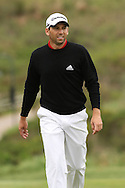 Sergio Garcia walks up the 18th during round 2 of the Gary Player Invitational presented by Coca-Cola and held at Fancourt in George on the 21st November 2010..Photo by Shaun Roy/SPORTZPICS