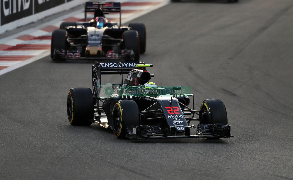 McLaren's Jenson Button during the Abu Dhabi Grand Prix at the Yas Marina Circuit, Abu Dhabi.