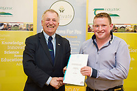Repro Free: Professor Gerry Boyle, DG Teagasc with Teagasc Green Cert Graduate David Howley at the Raheen Woods Hotel  Photo:Andrew Downes, xposure