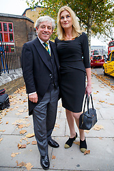 © Licensed to London News Pictures. 03/11/2015. London, UK. Speaker of the House of Commons John Bercow and Sally Bercow attending a memorial service for ex-Liberal Democrat leader Charles Kennedy at St George's Cathedral in London on Tuesday, 3 November, 2015. Mr Kennedy died suddenly on June 1, 2015 at the age of 55 after suffering a major haemorrhage as a result of a long battle with alcoholism. Photo credit: Tolga Akmen/LNP