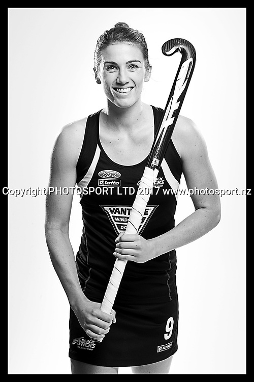 Brooke Neal, New Zealand Black Sticks women, national hockey team photoshoot. Photosport Studio, Auckland. August 2017, Copyright Image: Andrew Cornaga / www.photosport.nz