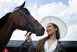 Repro Free: 04/06/2013 Top model Roz Purcell, wearing beautiful jewellery from by Boodles, pictured launching the Dubai Duty Free Most Stylish Lady competition. The eagerly anticipated competition will be one of the highlights of Dubai Duty Free Irish Derby Day taking place at the Curragh racecourse, Saturday, 29th June, 2013.<br /> Pre-registrations are now open at curragh.ie. For further information or to book tickets, please call (045) 441205 or visit www.curragh.ie  . Picture Andres Poveda