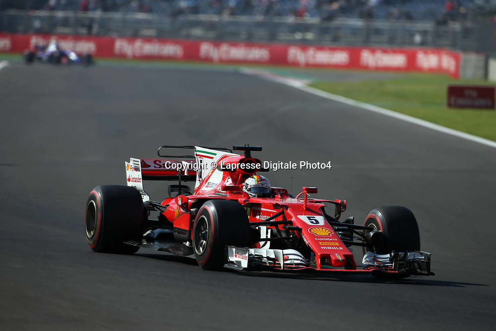 &copy; Photo4 / LaPresse<br /> 27/10/2017 Mexico City, Mexico<br /> Sport <br /> Grand Prix Formula One Mexico 2017<br /> In the pic: Sebastian Vettel (GER) Scuderia Ferrari SF70H