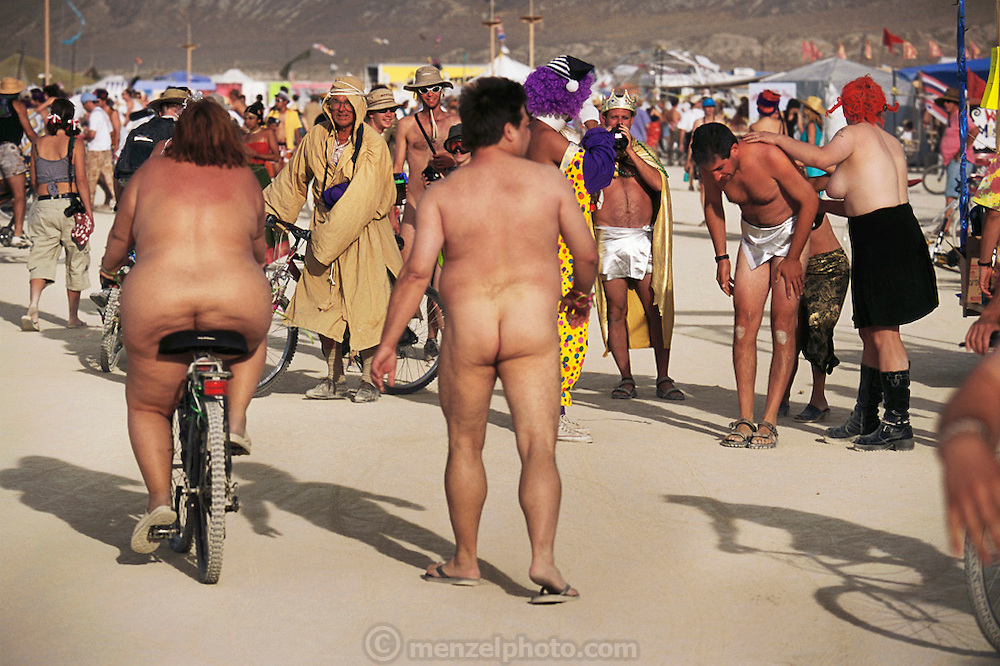 Black Rock Desert, Nevada: Burning Man is a performance art festival known for art, drugs and sex. It takes place annually in the Black Rock Desert near Gerlach, Nevada, USA..