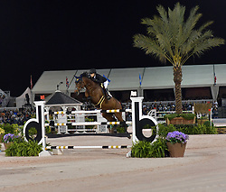 March 9, 2019 - Wellington, Florida, United States Of America - WELLINGTION, FL - MARCH 09: SATURDAY NIGHT LIGHTS: Jessica Springsteen participates The highlight event of week 9 at the 2019 Winter Equestrian Festival, the $391,000 Douglas Elliman Real Estate Grand Prix CSI 5*. The Winter Equestrian Festival (WEF) is the largest, longest running hunter/jumper equestrian event in the world held at the Palm Beach International Equestrian Center on March 09, 2019  in Wellington, Florida..People:  Jessica Springsteen. (Credit Image: © SMG via ZUMA Wire)