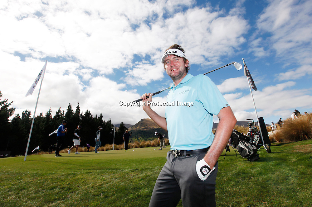 Mitch Brown of Australia before round one of the New Zealand PGA championships at The Hills, Arrowtown, New Zealand. Thursday, 29 March 2012. Photo: Michael Thomas/ photosport.co.nz