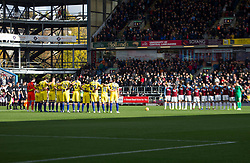 Chelsea and Burnley during a remembrance minutes silence - Mandatory by-line: Jack Phillips/JMP - 28/10/2018 - FOOTBALL - Turf Moor - Burnley, England - Burnley v Chelsea - English Premier League
