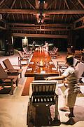 Setting table for dinner
