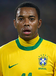 Robinho of Brazil during the 2010 FIFA World Cup South Africa Round of Sixteen match between Brazil and Chile at Ellis Park Stadium on June 28, 2010 in Johannesburg, South Africa. Brazil defeated Mexico 3-0 and qualified for quarterfinals.  (Photo by Vid Ponikvar / Sportida)