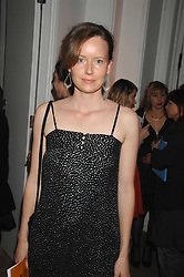 Actress CHARLOTTE ASPREY at the TOD's Art Plus Film Party 2008 hosted by The Whitechapel Art Gallery at a former church at 1 Marylebone Road, London NW1 on 6th March 2008.<br />