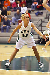 10 January 2009: Hope Schulte. The Lady Titans of Illinois Wesleyan University downed the and Lady Thunder of Wheaton College by a score of 101 - 57 in the Shirk Center on the Illinois Wesleyan Campus in Bloomington Illinois.