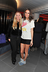 Left to right, fashion designer SUZIE TURNER and SASHA VOLKOVA at the launch of famed American fitness club 'Equinox' 99 High Street Kensington, London on 23rd October 2012.