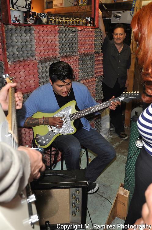 Omar in a jam session at Wild Records studio in Altadena, CA 5/2/2010.
