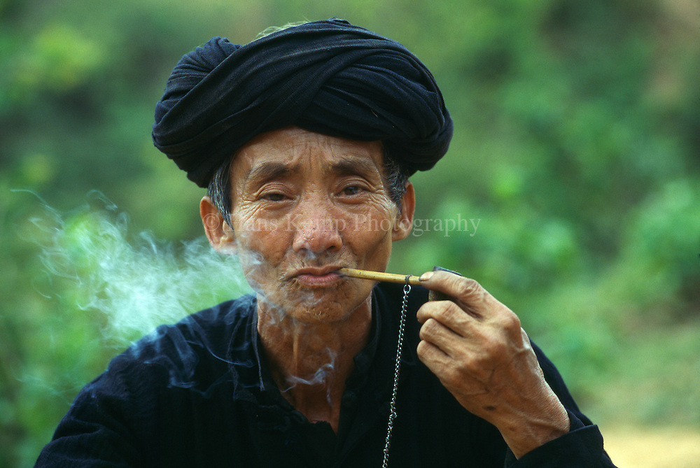 Tribal man in North Vietnam.