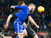 Football - 2016 / 2017 Sky Bet [EFL] Championship - Cardiff City vs. Brighton & Hove Albion<br /> <br /> Aron Gunnarsson Cardiff City heads the ball away  in defence---, at Cardiff City Stadium.<br /> <br /> COLORSPORT/WINSTON BYNORTH