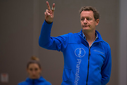 19-01-2019 NED: Pharmafilter US - Dros-Alterno, Amsterdam<br /> Round 15 of Eredivisie volleyball. Alterno win 3-0 (17-25 16-25 20-25) of US / Trainer/Coach Frank van Rooijen of US