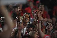 Ole Miss vs. Louisiana-Lafayette fans in an NCAA Super Regional game in Lafayette, La. on Sunday, June 8, 2014. Mississippi won 5-2.