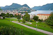 The town of Lugano, a nice spot to kick off the 2011 Tour de Suisse.  Bad coffee but efficient trains.