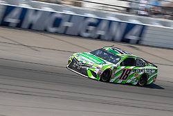 August 12, 2018 - Brooklyn, MI, U.S. - BROOKLYN, MI - AUGUST 12: Monster Energy NASCAR Cup Series driver Kyle Busch (18) drives through turn four during the Monster Energy NASCAR Cup Series Consumers Energy 400 at Michigan International Speedway on August 12, 2018 in Brooklyn, Michigan.(Photo by Adam Lacy/Icon Sportswire) (Credit Image: © Adam Lacy/Icon SMI via ZUMA Press)