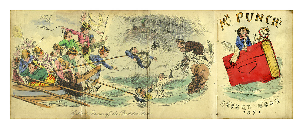 Mr Punch's Pocket Book 1871. Gallant Rescue off the Bachelor Rocks.
