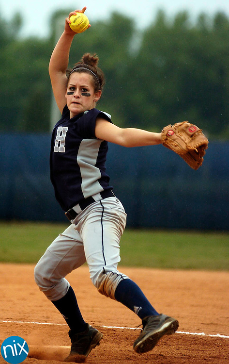 Hickory Ridge's Emma Stevenson pitches against St. Stephens High School Thursday night in Harrisburg.