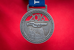 © Licensed to London News Pictures . 22/05/2016 . Manchester , UK . Race finisher's medal . The Great Manchester Run in Manchester City Centre . Photo credit : Joel Goodman/LNP