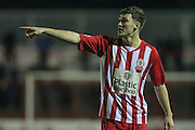 Joe Wright (Accrington Stanley) during the Sky Bet League 2 match between Accrington Stanley and Hartlepool United at the Fraser Eagle Stadium, Accrington, England on 19 January 2016. Photo by Mark P Doherty.