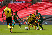 *** during the Vanarama National League Promotion Final match between Harrogate Town and Notts County at Wembley Stadium, London, England on 2 August 2020.