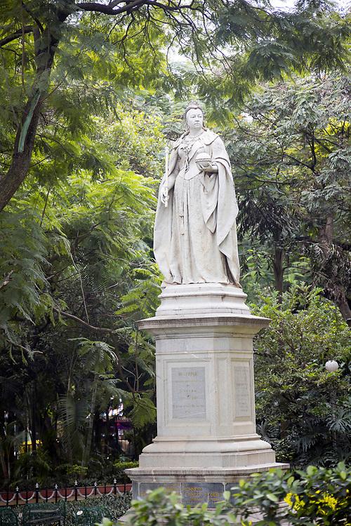 KADIRI, INDIA - 23rd October 2019 - Statue of Queem Victoria, Cubbon Park, Bangalore Bengaluru, Karnataka, India, South India