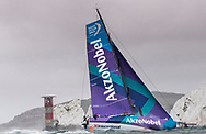 The Seven Star Triple Crown as part of Lendy Cowes week 2017. The Volvo Ocean Race Team &quot;Akzo Nobel&quot; shown here rounding the Needles. Skippered by Simeon Tienpont (NED)<br /> Credit Lloyd Images