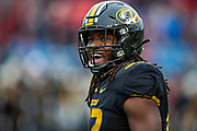LITTLE ROCK, AR - NOVEMBER 29:  Nick Bolton #32 of the Missouri Tigers looks to the sidelines during a game against the Arkansas Razorbacks at War Memorial Stadium on November 29, 2019 in Little Rock, Arkansas  The Tigers defeated the Razorbacks 24-14.  (Photo by Wesley Hitt/Getty Images) *** Local Caption *** Nick Bolton