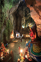 A statue lining the entrance to the Huyen Khong Cave on Nhuyen Son Mountain, Da Nang, Vietnam