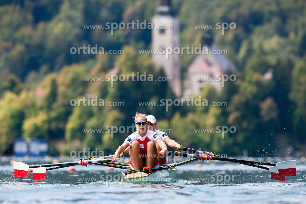 Magdalena Fularczyk and Julia Michalska of Poland during Women's Double Sculls at Rowing World Championships Bled 2011 on August 28, 2011, in Bled, Slovenia. (Photo by Matic Klansek Velej / Sportida)