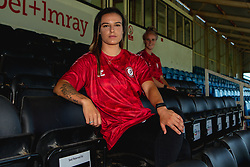 Bristol City Women Manager Tanya Oxtoby and players Jas Matthews and Chloe Logarzo visit their new home stadium at Twerton Park in Bath - Mandatory by-line: Robbie Stephenson/JMP - 07/08/2020 - FOOTBALL - Twerton Park - Bath, England - Bristol City Women visit Twerton Park