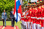 King Willem-Alexander and Queen Maxima of The Netherlands are welcomed by President Jcand his wife Iriana Widodo with an official welcome ceremony at the Presidential Palace in Jakarta, Indonesia, 10 March 2020. The Dutch King and Queen are in Indonesia for their 4 day State Visit. Photo: Robin Utrecht
