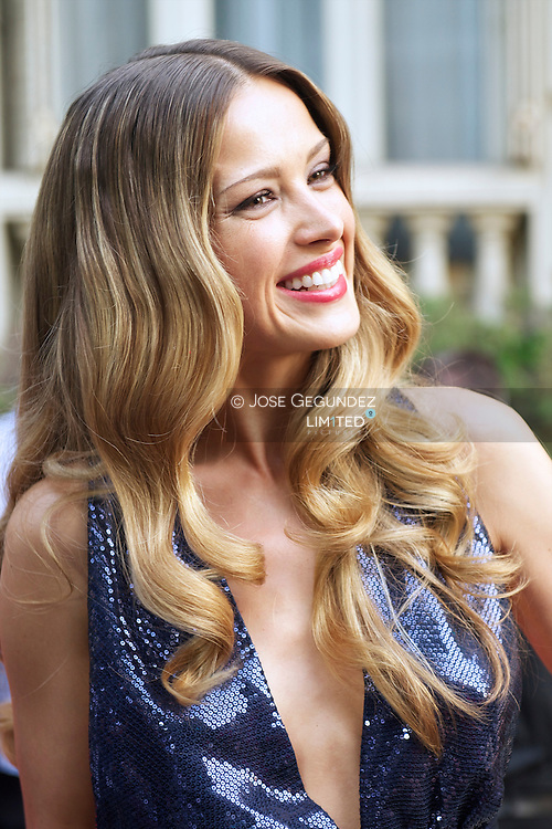 Petra Nemcova attends Glamour magazine 10th Anniversary party at Italian Embassy in Madrid, Spain