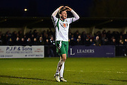 Bognor Regis Town forward Jimmy Wild (9) misses a late chance during the Ryman Premier League match between Bognor Regis Town and Havant & Waterlooville FC at Nyewood Lane, Bognor, United Kingdom on 26 December 2016. Photo by Jon Bromley.