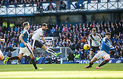 Rangers&rsquo; Rob Kiernan blocks Dundee&rsquo;s Kane Hemmings shot - Rangers v Dundee, William Hill Scottish Cup quarter final at Ibrox Park<br /> <br />  - &copy; David Young - www.davidyoungphoto.co.uk - email: davidyoungphoto@gmail.com