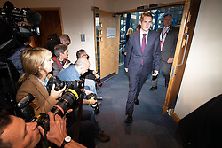 © Licensed to London News Pictures . 02/10/2018. Birmingham, UK. GAVIN WILLIAMSON at the conference on day 3 of the Conservative Party conference at the ICC in Birmingham . Photo credit: Joel Goodman/LNP